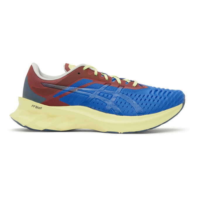 Photo: Affix Blue and Red Asics Edition Novablast Sneakers