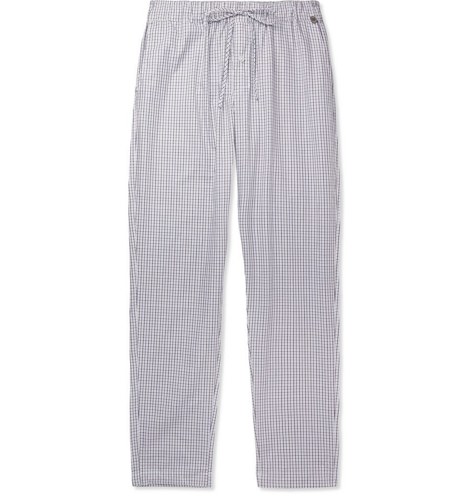 Photo: Hanro - Checked Cotton Pyjama Trousers - Multi