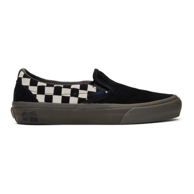 Photo: Vans Black and White Taka Hayashi Edition Slip-On LX Sneakers