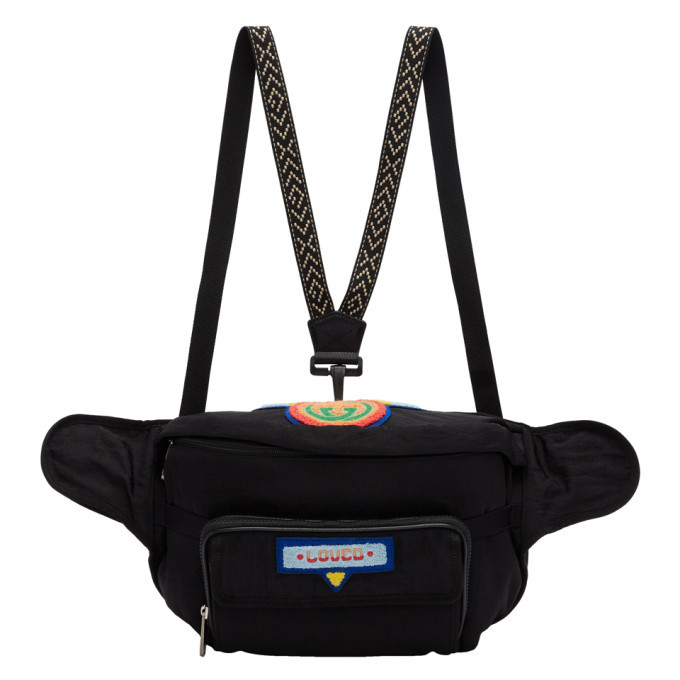 Photo: Gucci Black 80s Patch Belt Bag