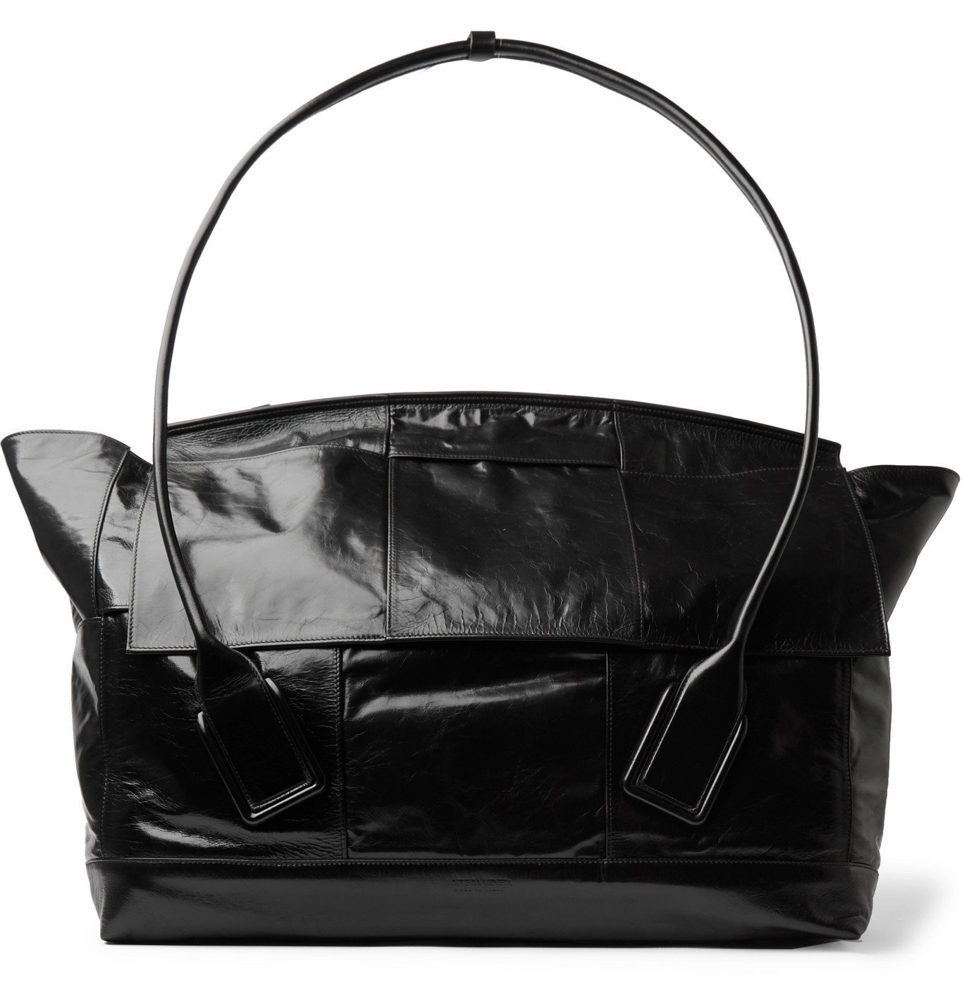 Photo: Bottega Veneta - Intrecciato Textured-Leather Holdall - Black