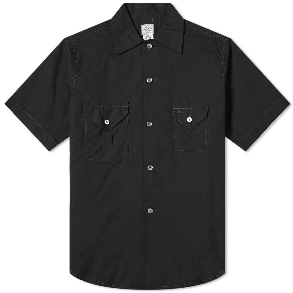 Photo: Post Overalls Short Sleeve Pocket Shirt Black