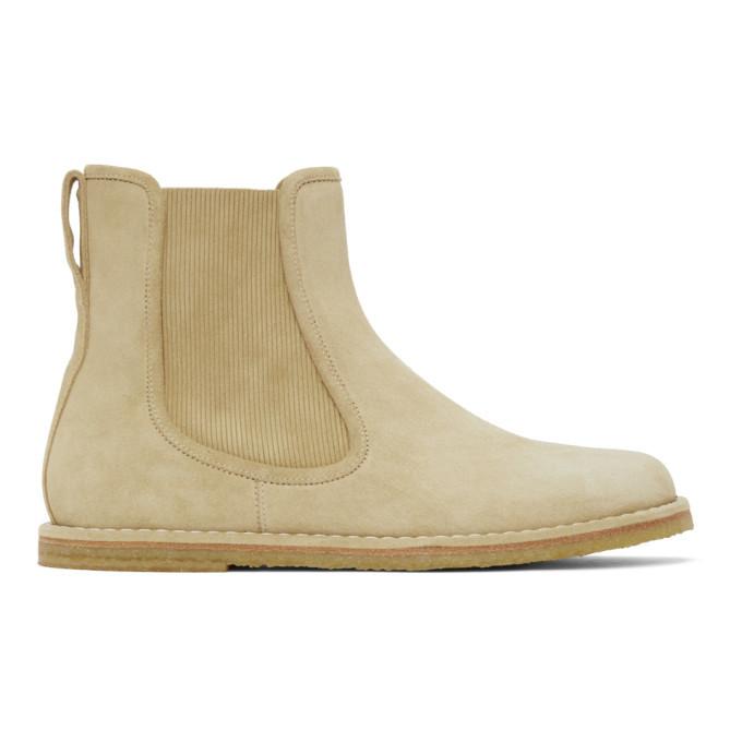 Photo: Loewe Beige Suede Chelsea Boots