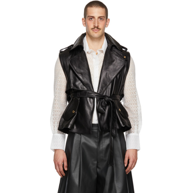 Photo: Palomo Spain Black Leather Vest