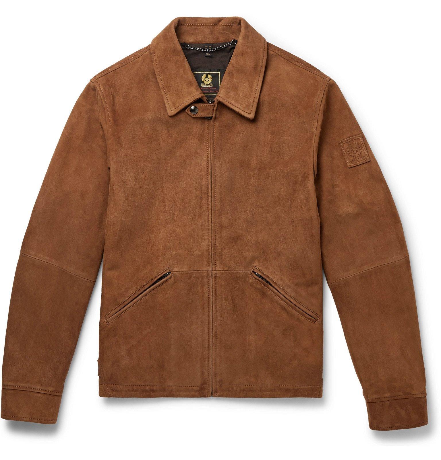 Belstaff - Cooper Suede Blouson Jacket - Brown