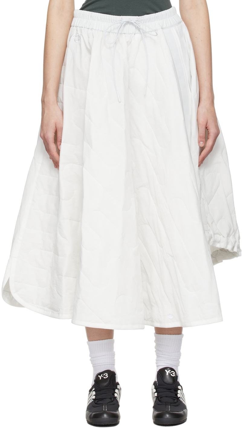 Photo: Y-3 White Cloud Quilt Skirt