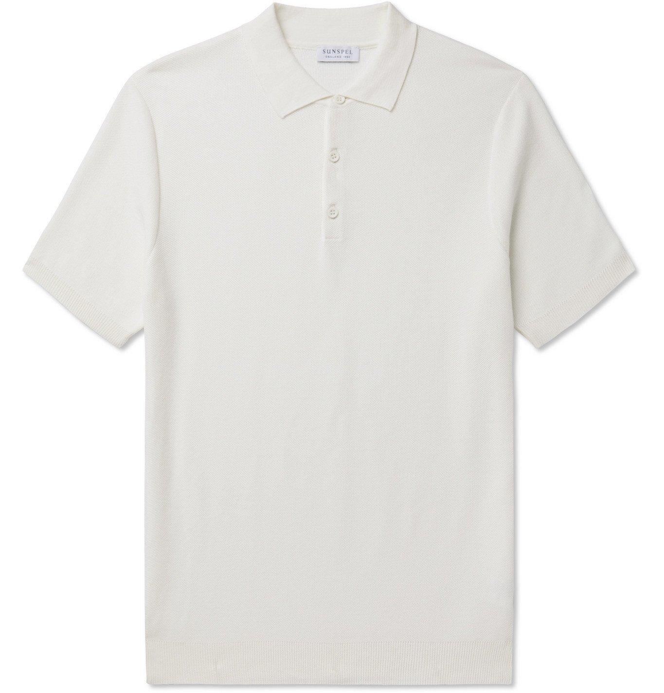 Photo: Sunspel - Slim-Fit Cotton-Piqué Polo Shirt - Neutrals