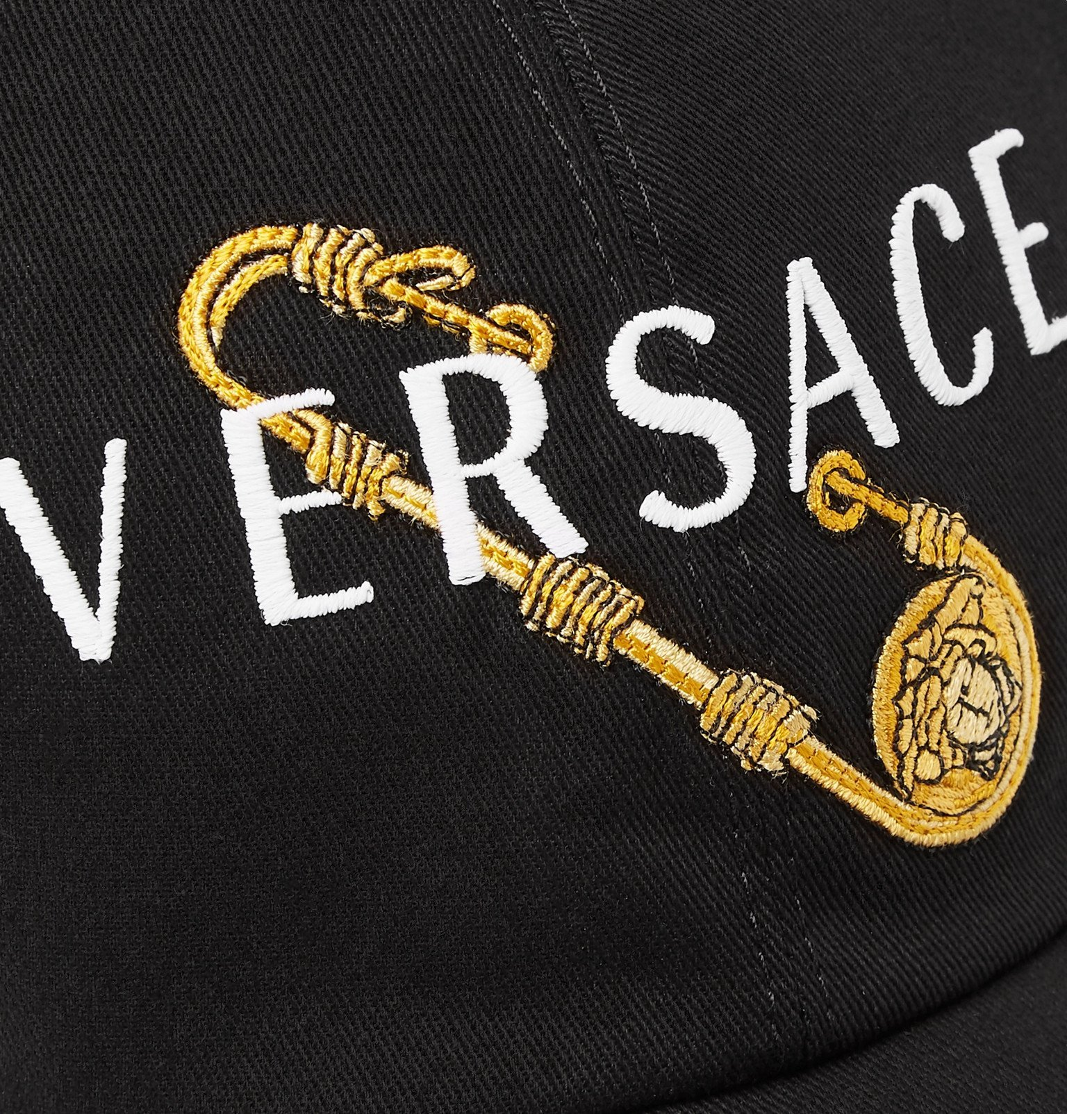 Versace - Logo-Embroidered Twill Baseball Cap - Black
