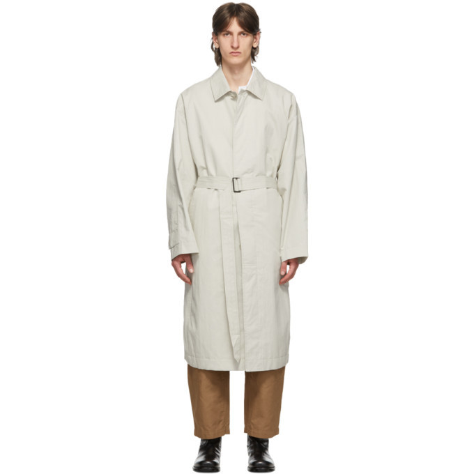 Photo: Lemaire Off-White Belted Overcoat
