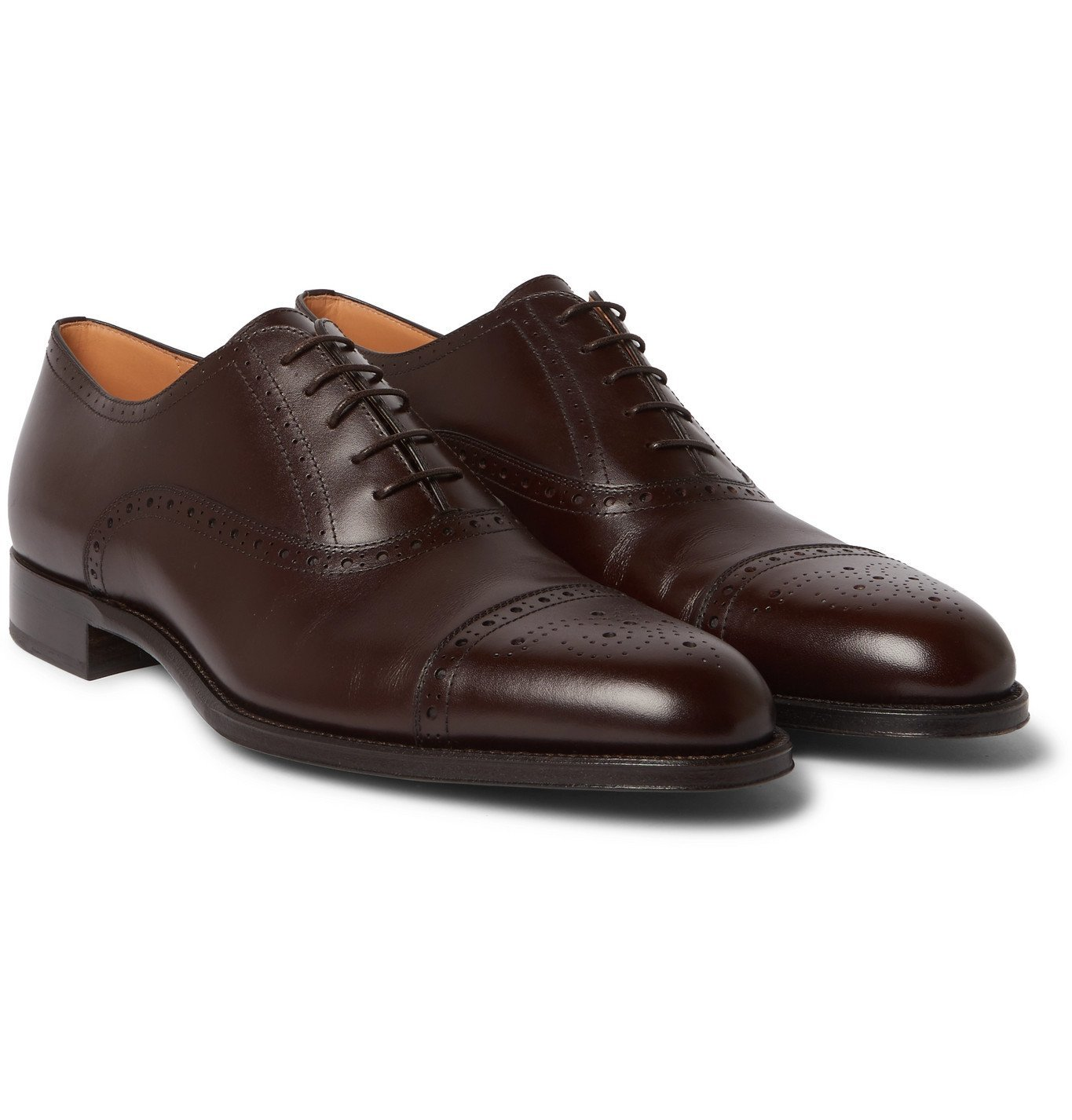 Dunhill - Kensington Leather Oxford Brogues - Brown