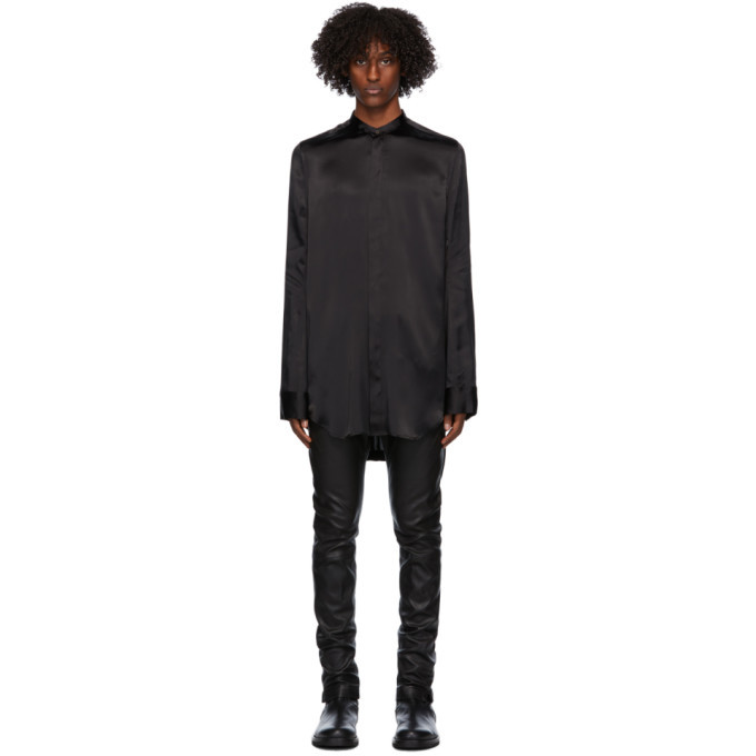 Photo: Ann Demeulemeester Black Long Shirt