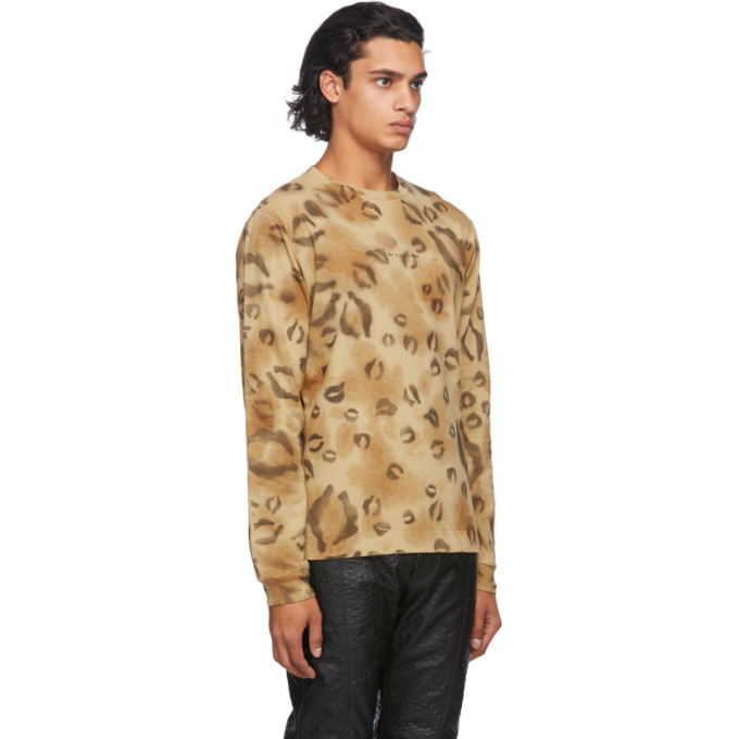 1017 ALYX 9SM Brown Leopard Long Sleeve T-Shirt