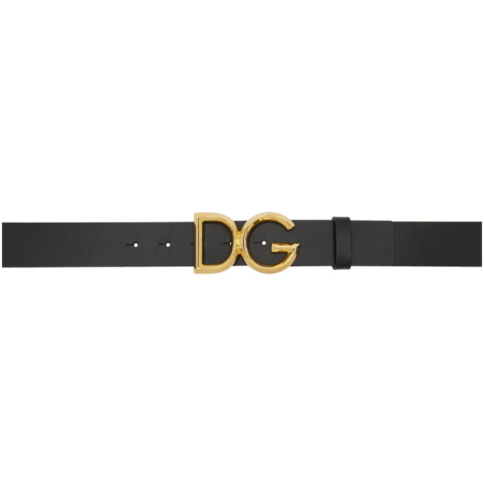 Photo: Dolce and Gabbana Black DG Belt