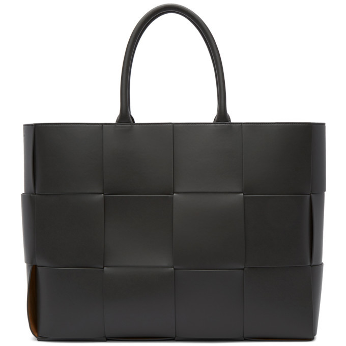 Photo: Bottega Veneta Grey Leather Urban Tote