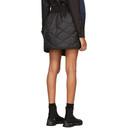 Sacai Black Quilted Nylon Wrap Miniskirt