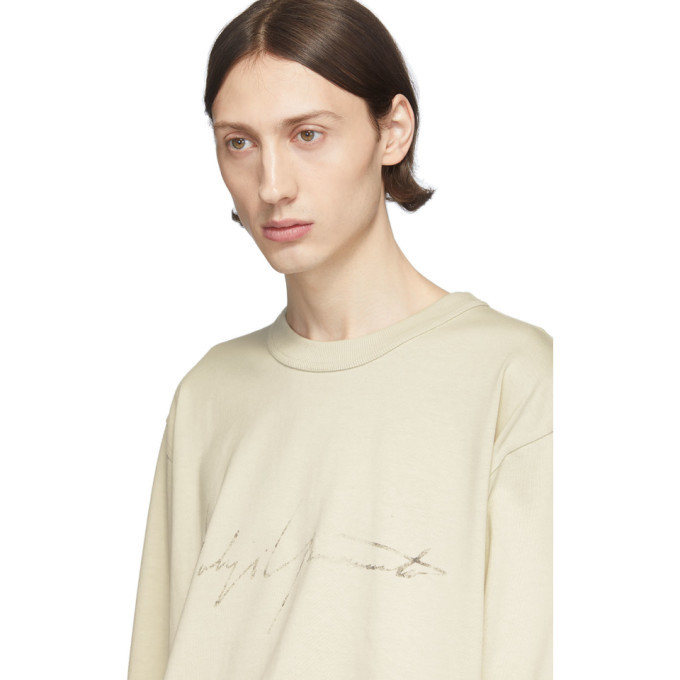 Y-3 Off-White Distressed Signature Sweatshirt