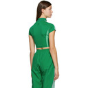 adidas Originals Green Paolina Russo Edition Crop Top