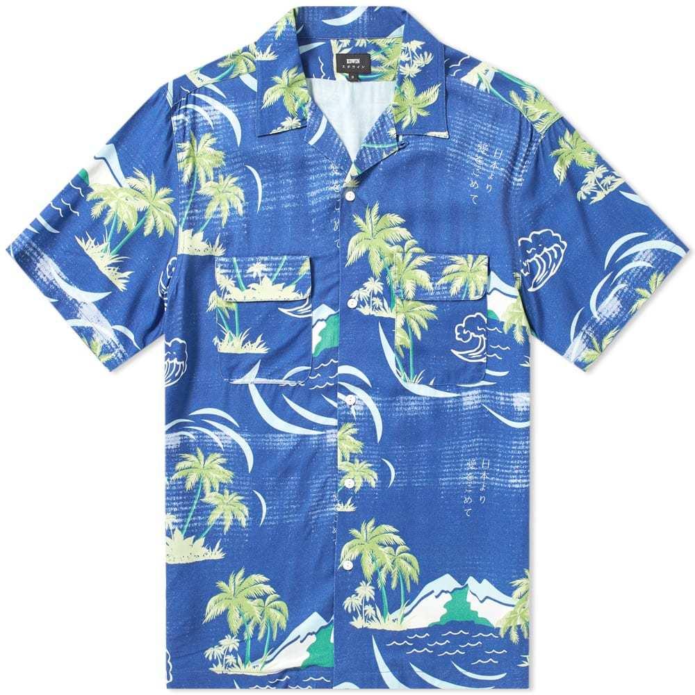 Photo: Edwin Short Sleeve Garage Shirt Blue Island Print