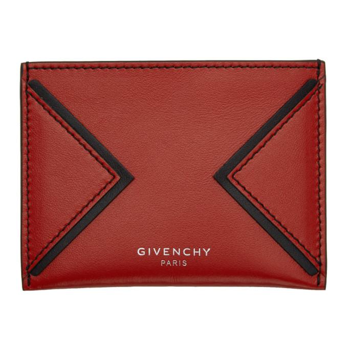 Photo: Givenchy Red V Shape Cut Card Holder