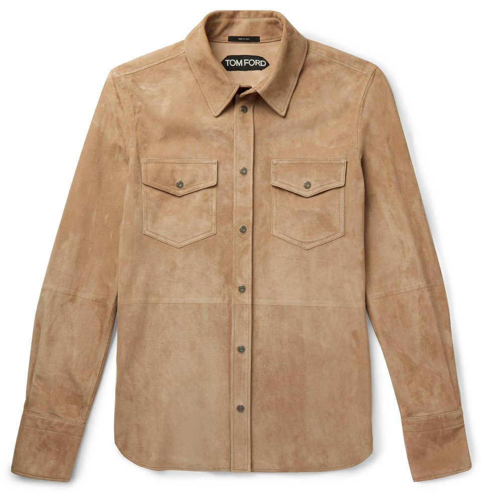 Photo: TOM FORD - Suede Shirt Jacket - Tan