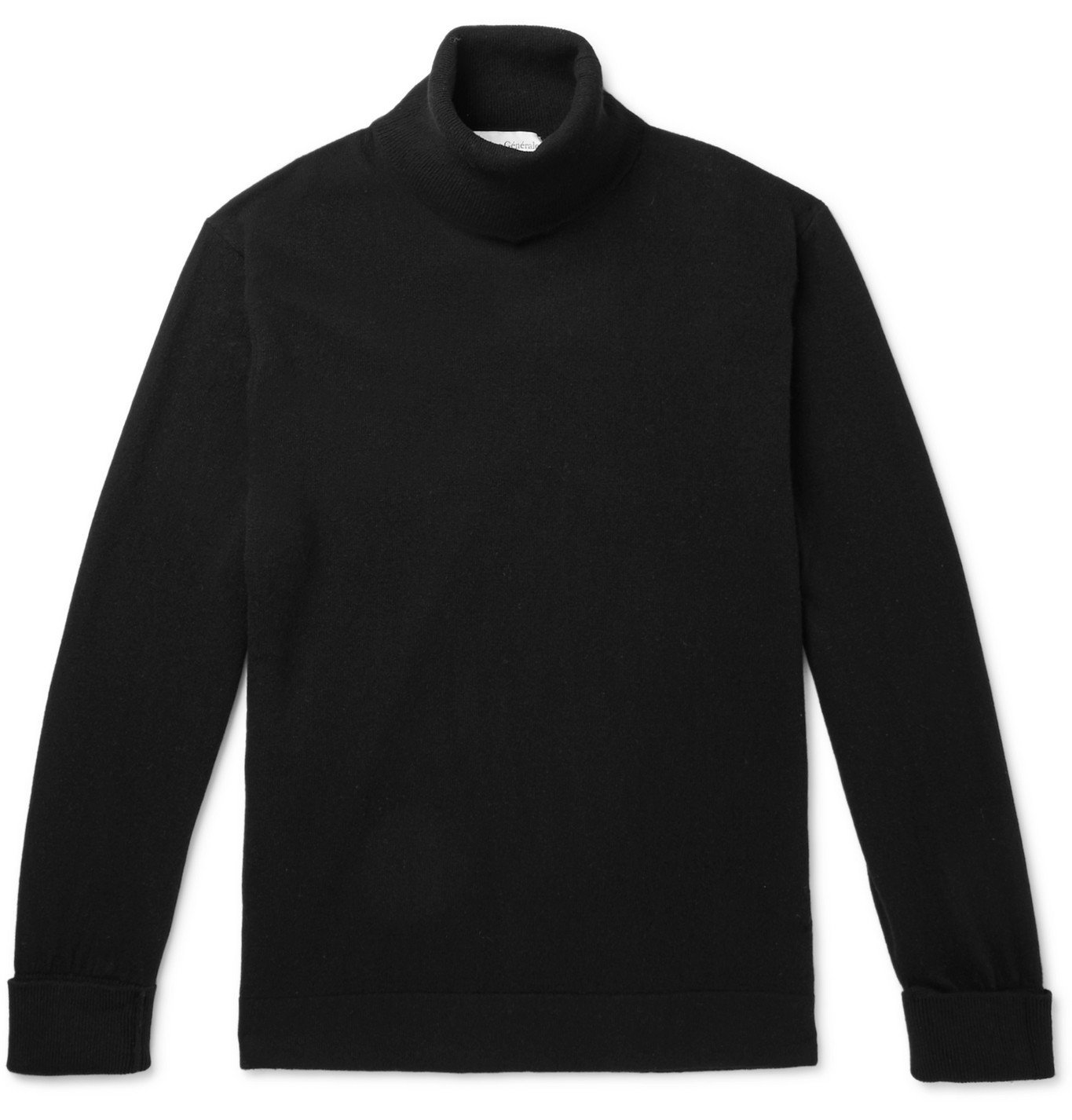 Photo: Officine Generale - Nina Cashmere Rollneck Sweater - Black