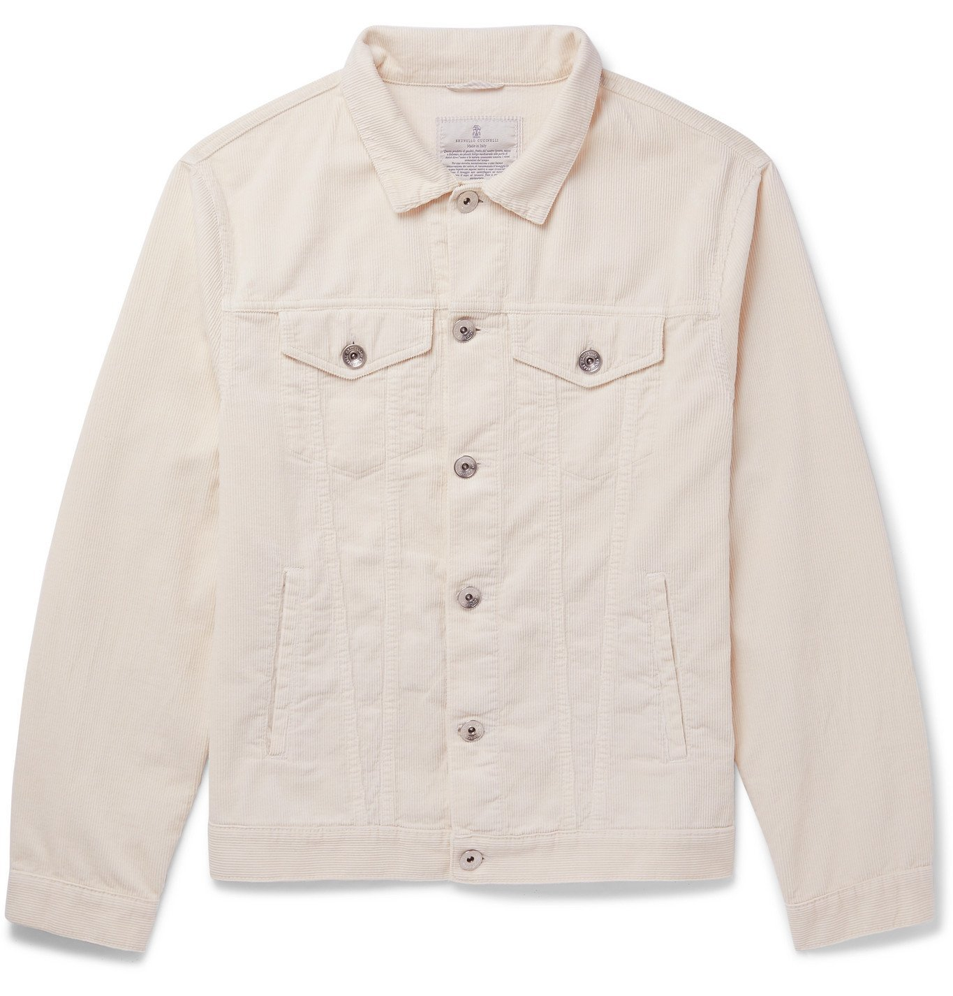 Photo: Brunello Cucinelli - Cotton-Corduroy Jacket - White
