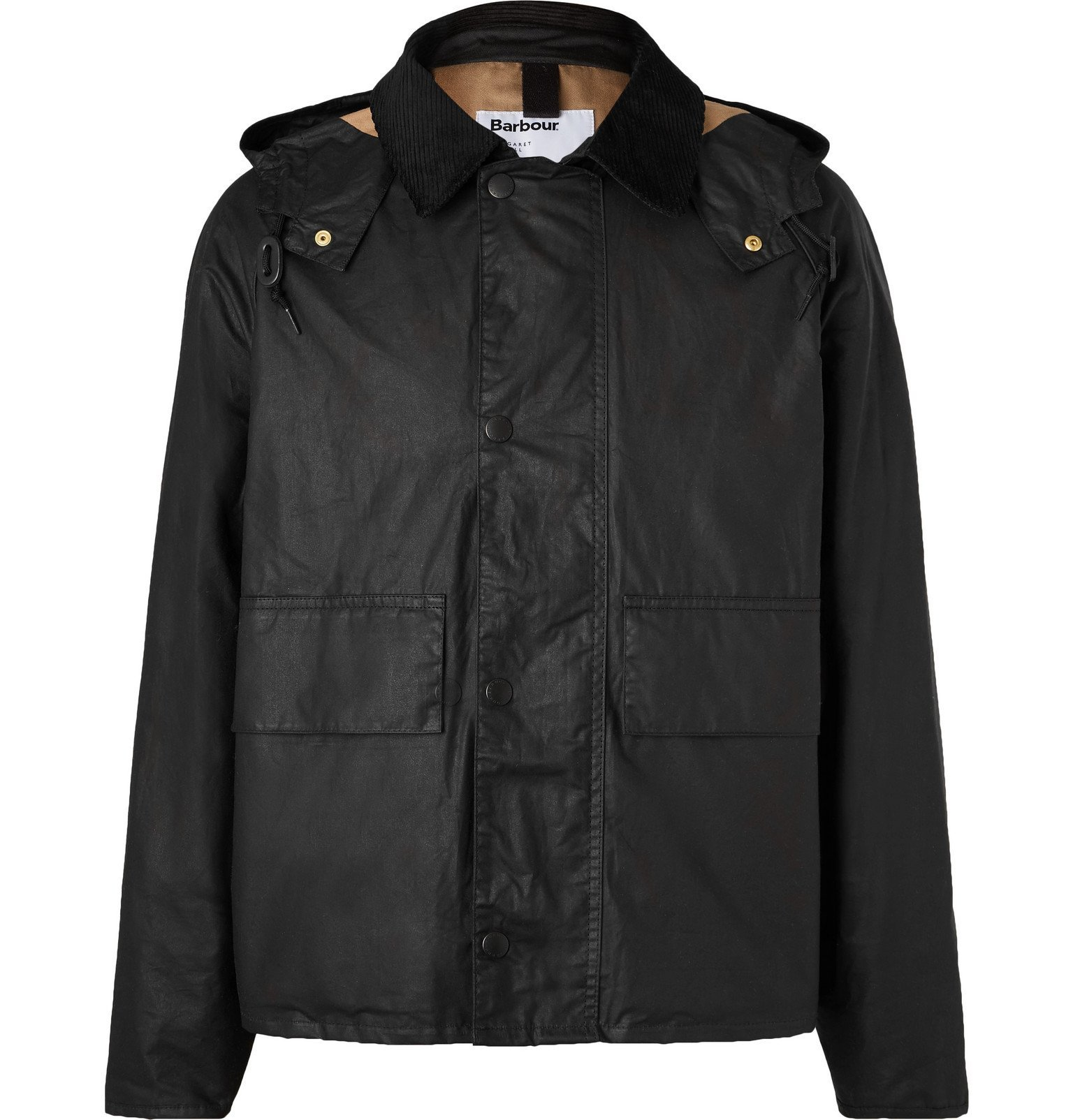 Photo: Barbour - Margaret Howell Waxed-Cotton Hooded Jacket - Black