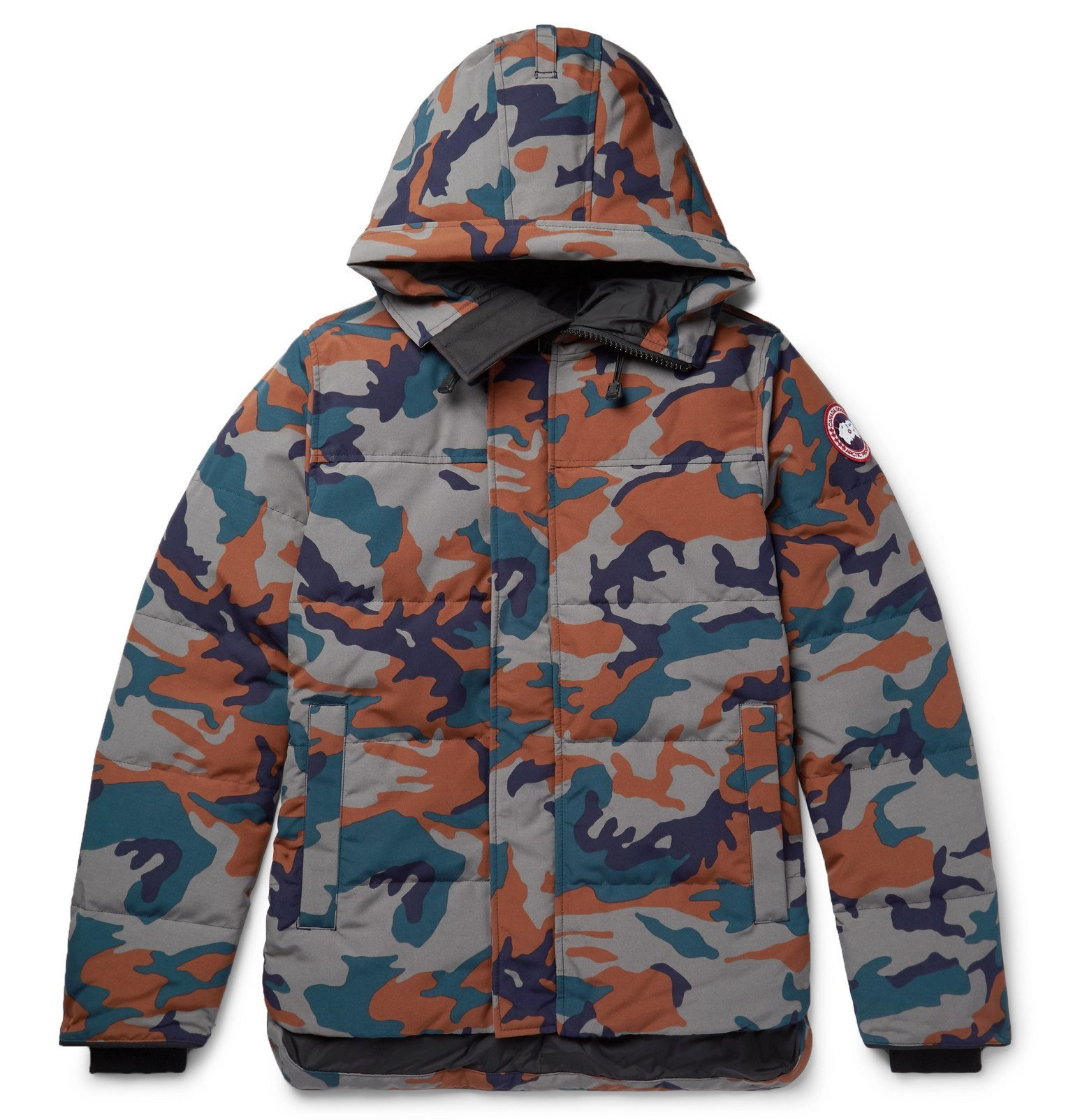 Photo: Canada Goose - MacMillan Slim-Fit Camouflage-Print Quilted Arctic Tech Hooded Down Parka - Gray