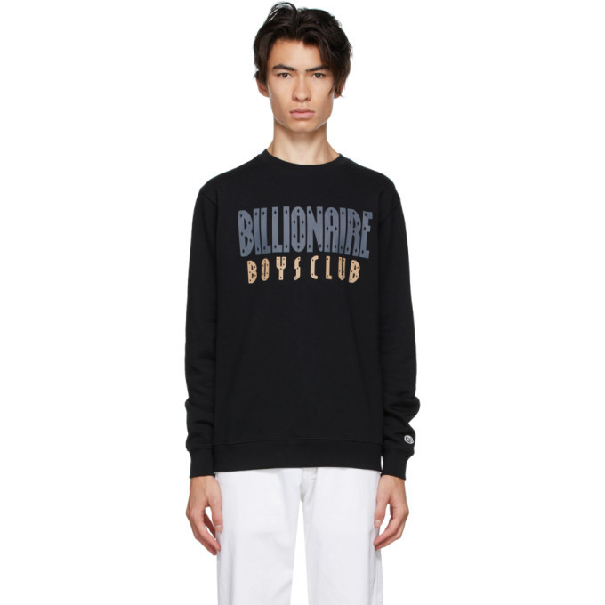 Photo: Billionaire Boys Club Black Straight Logo Sweatshirt