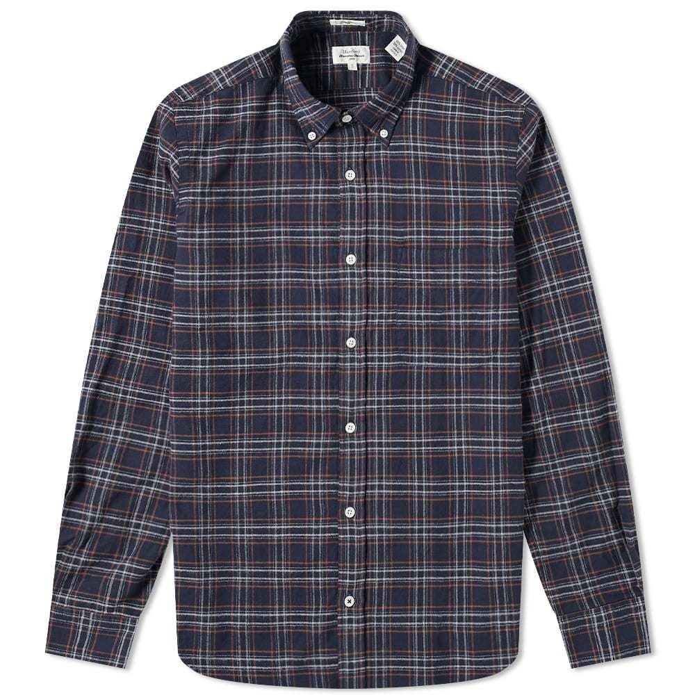 Photo: Hartford Side Button Down Flannel Plaid Shirt