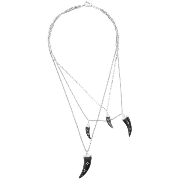 Photo: Isabel Marant Black and Silver Aimable Necklace