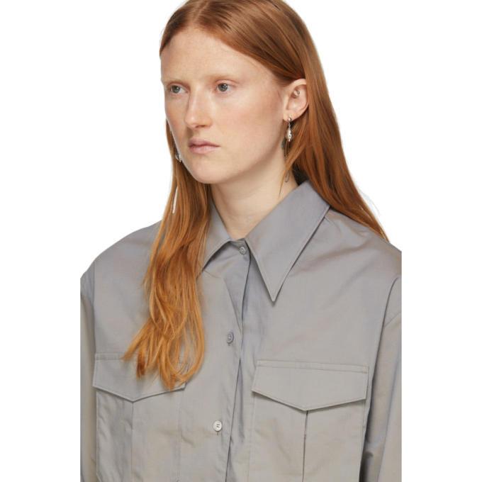 Lemaire Grey Poplin Pocket Shirt