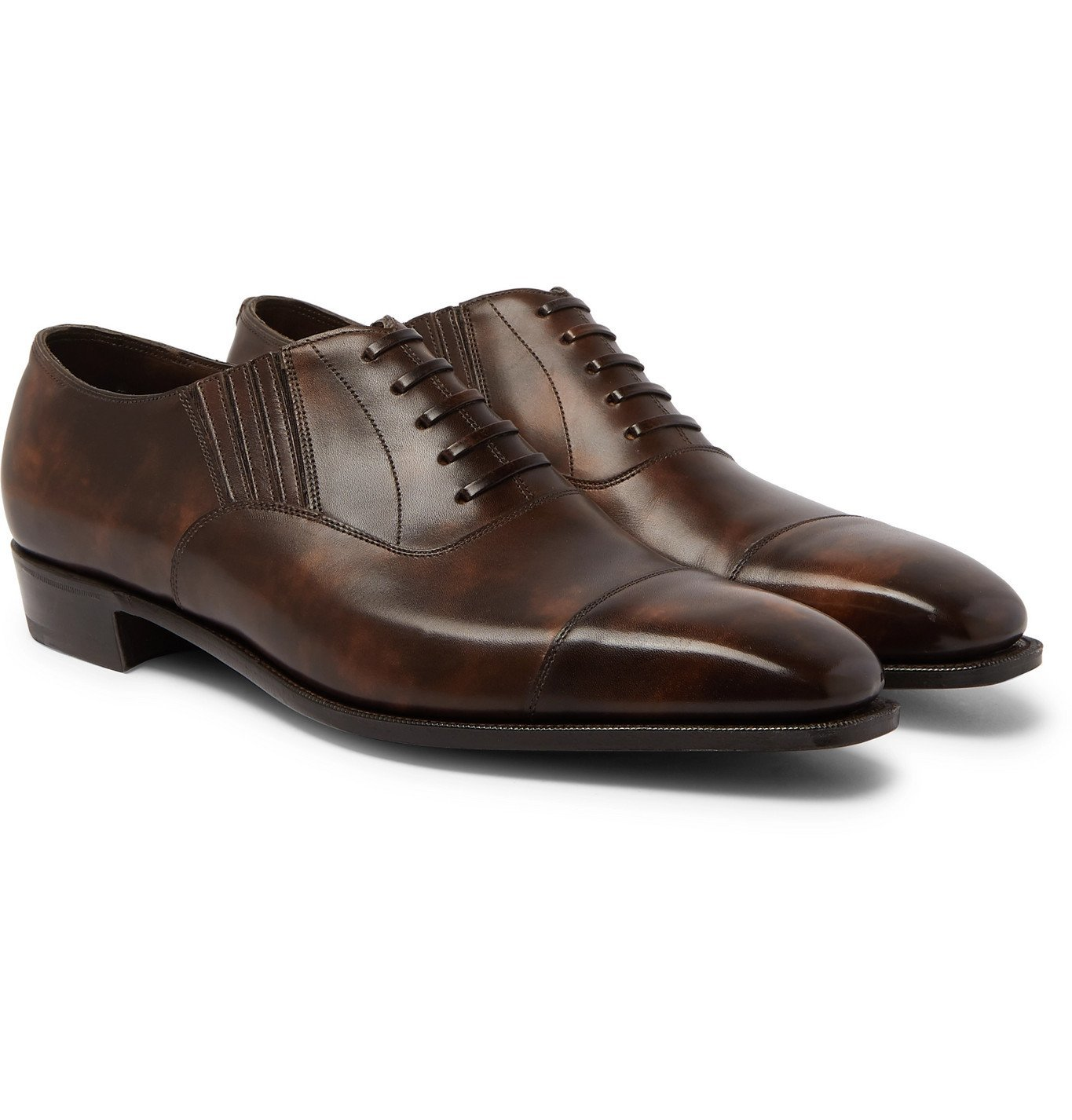 Photo: George Cleverley - Bodie II Bourbon Leather Oxford Shoes - Brown