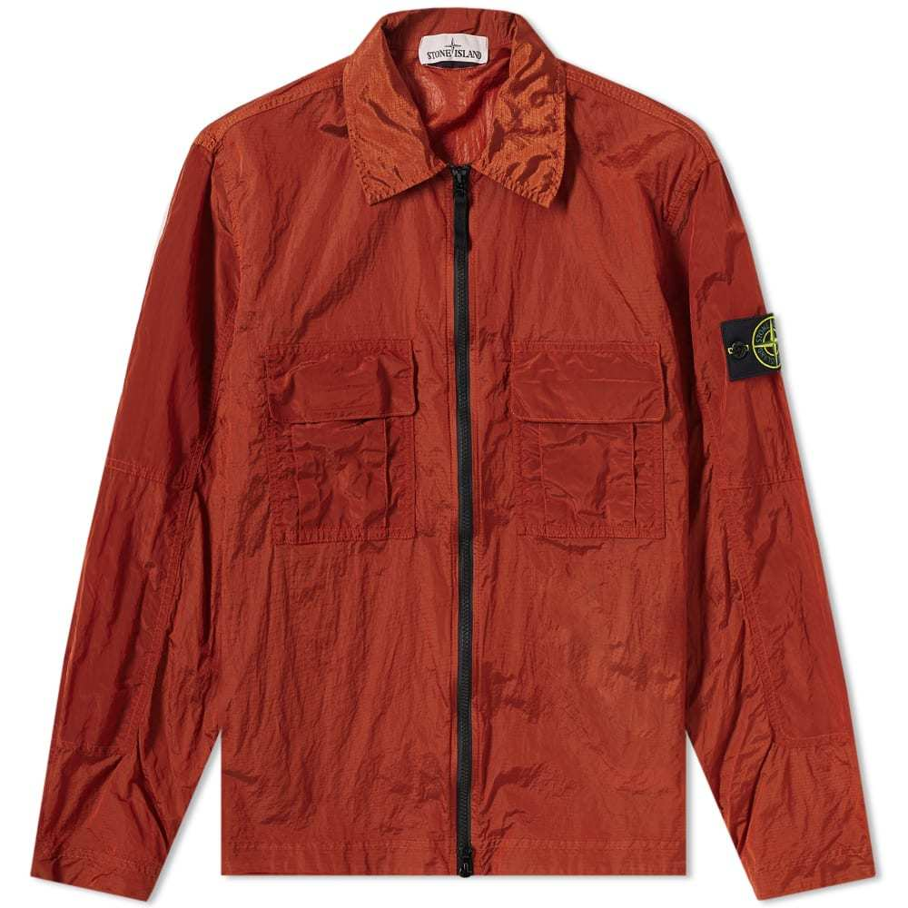 Photo: Stone Island Nylon Metal Zip Overshirt