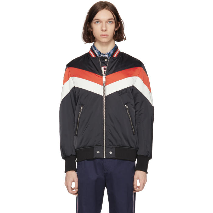 Photo: Diesel Reversible Black J Marching Band Bomber Jacket