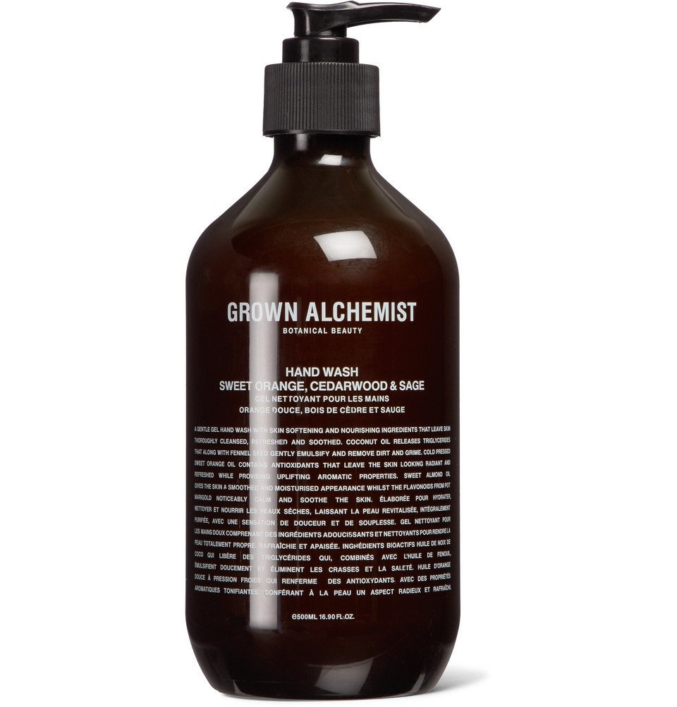 Photo: Grown Alchemist - Hand Wash - Sweet Orange, Cedarwood & Sage, 500ml - Colorless