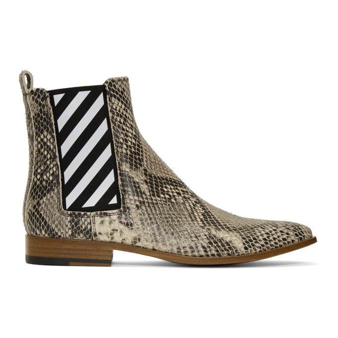 Photo: Off-White Off-White Python Chelsea Boots
