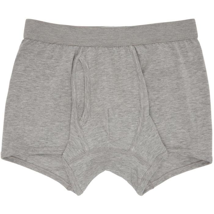 Photo: Comme des Garçons Shirt Grey Plain Boxer Shorts
