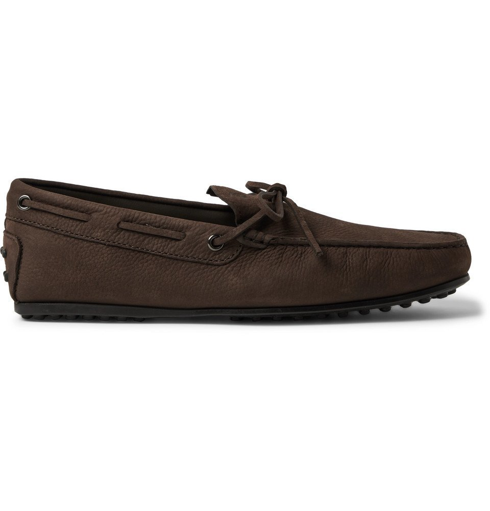 Tod's - City Gommino Full-Grain Leather Driving Shoes - Dark brown