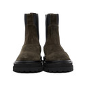 3.1 Phillip Lim Khaki Suede Lug Sole Sam Chelsea Boots