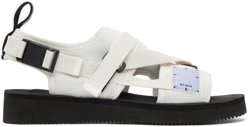 Photo: MCQ White Neoprene Criss-Cross Sandals