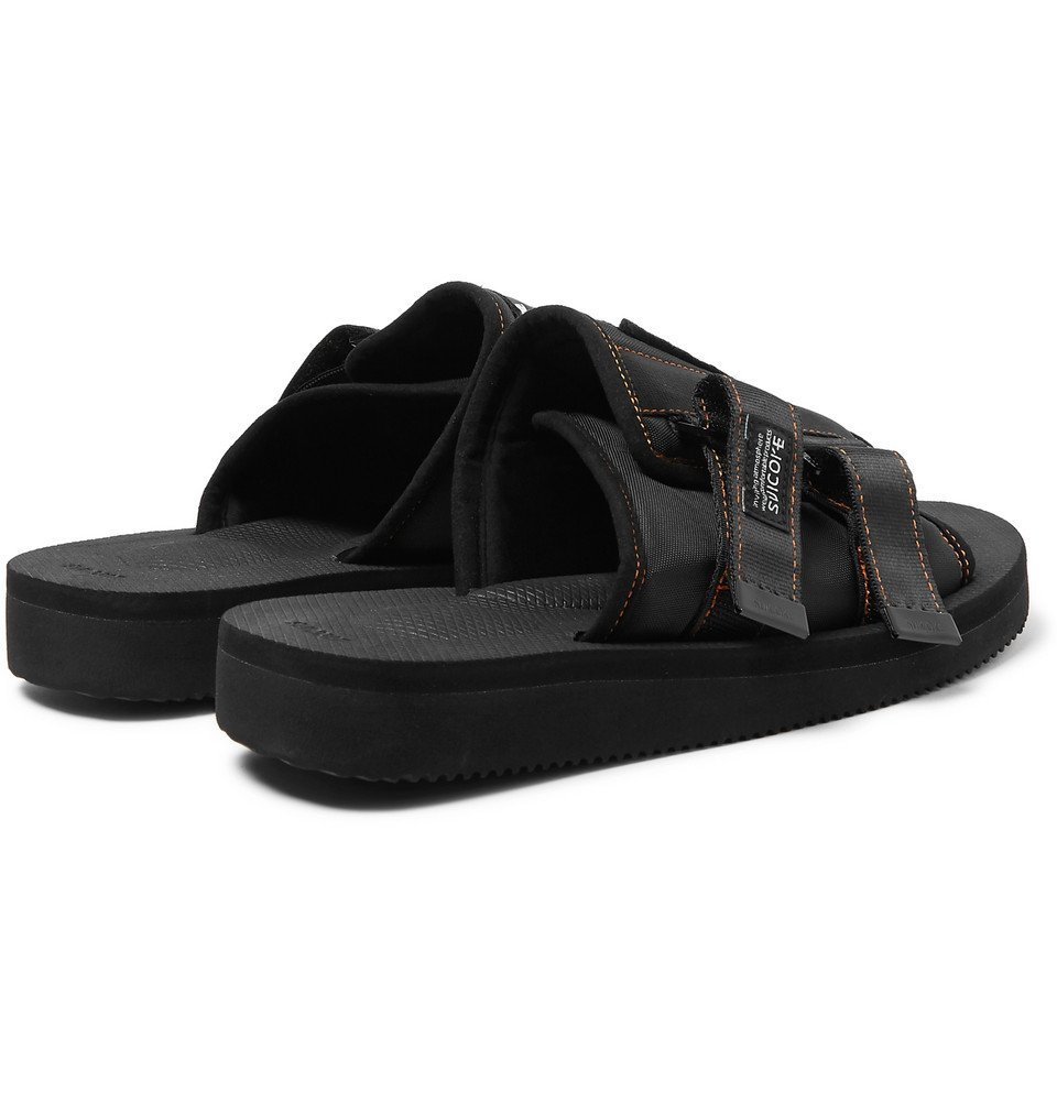 Palm Angels - Suicoke Kaw Logo-Print Webbing-Trimmed Nylon Slides - Black