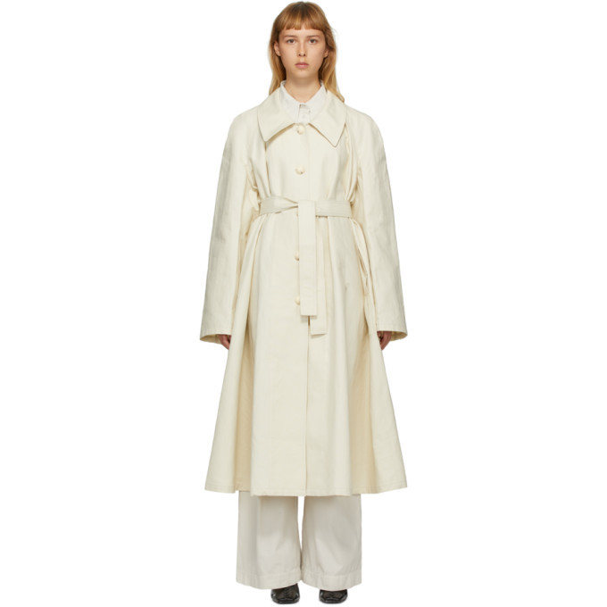 Photo: Lemaire Off-White Linen New Trench Coat