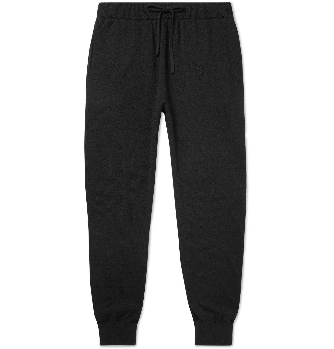 Photo: Mr P. - Slim-Fit Wool and Cashmere-Blend Sweatpants - Black