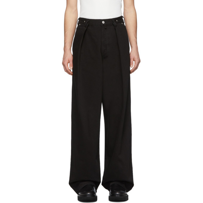 Photo: Dries Van Noten Black Publish Pants