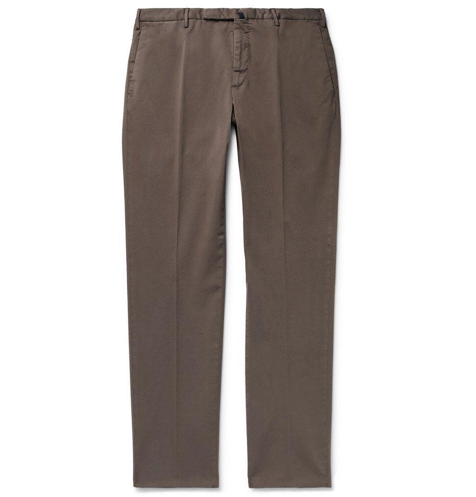 Photo: Incotex - Slim-Fit Stretch-Cotton Twill Chinos - Light brown