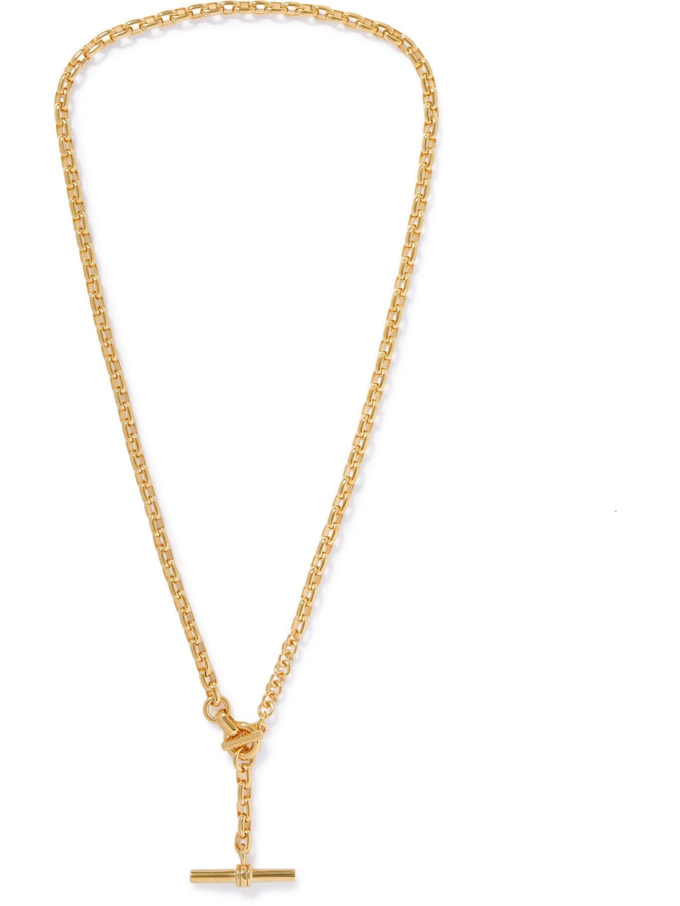 Photo: BOTTEGA VENETA - Gold-Plated Necklace - Gold