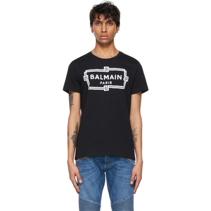 Photo: Balmain Black Logo T-Shirt