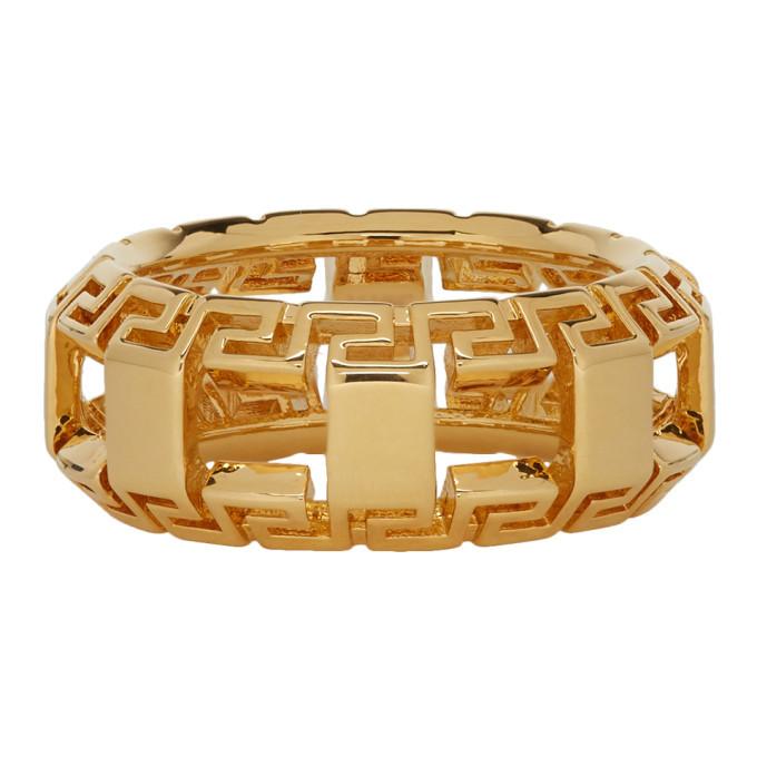 Photo: Versace Gold Greek Key Ring