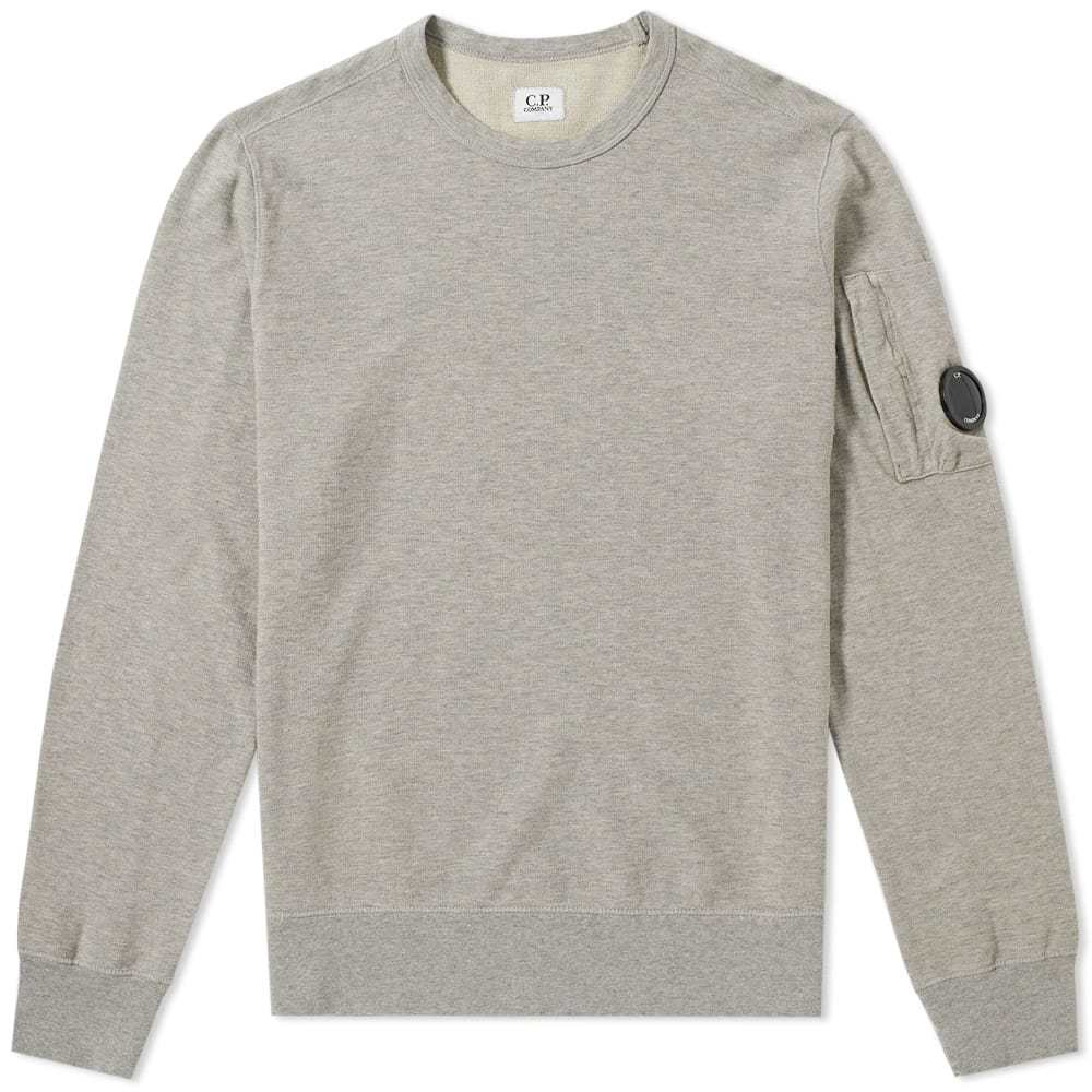 C.P. Company Garment Dyed Light Fleece Arm Lens Sweat Grey